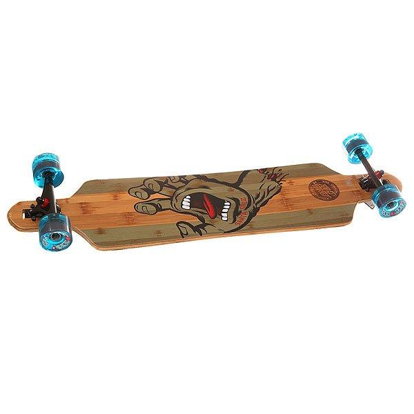 Лонгборд Santa Cruz S6 Drop Thru Bamboo Cruzer Stained Hand/Blue 9.2 x 41 (104 см)Отличный классический лонгборд для любителей прогрессивного катания.Характеристики:Подвески:180mm Road Rider.Колеса: Road Rider 72mm, 78a. Материал деки: клен.<br><br>Цвет: коричневый,зеленый<br>Тип: Лонгборд<br>Возраст: Взрослый<br>Пол: Мужской