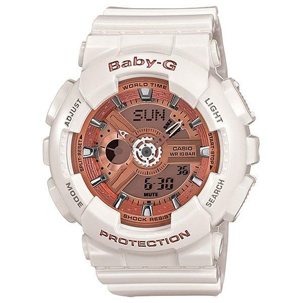 Электронные часы детские Casio Baby-g Ba-110ga-7a1 WhiteПрочные многофункциональные часы в современном городском стиле найдут признание среди девушек, которые любят активный отдых.Технические характеристики: Светодиодная подсветка.Ударопрочная конструкция защищает от ударов и вибрации.Функция мирового времени.Функция секундомера- 1/100 сек. - 24 часа.Таймер - 1/1 мин. - 24 часа.5 ежедневных будильников.Функция повтора будильника.Включение/выключение звука кнопок.Автоматический календарь.12/24-часовое отображение времени.Минеральное стекло.Корпус из полимерного пластика.Ремешок из полимерного материала.Срок службы аккумулятора - 2 года.Точность +/- 30 сек в месяц.<br><br>Цвет: белый<br>Тип: Электронные часы<br>Возраст: Детский