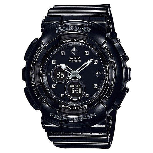 Электронные часы детские Casio Baby-g Ba-125-1a BlackНовинка в коллекции часов от Casio. Многофункциональные наручные часы в стильном корпусе для девушек, которые любят активный отдых.Технические характеристики: Светодиодная подсветка.Ударопрочная конструкция защищает от ударов и вибрации.Функция мирового времени.Функция секундомера- 1/100 сек. - 24 часа.Таймер - 1/1 мин. - 24 часа.5 ежедневных будильников.Функция повтора будильника.Включение/выключение звука кнопок.Автоматический календарь.12/24-часовое отображение времени.Минеральное стекло.Корпус из полимерного пластика.Ремешок из полимерного материала.Срок службы аккумулятора - 2 года.Точность +/- 30 сек в месяц.<br><br>Цвет: черный<br>Тип: Электронные часы<br>Возраст: Детский