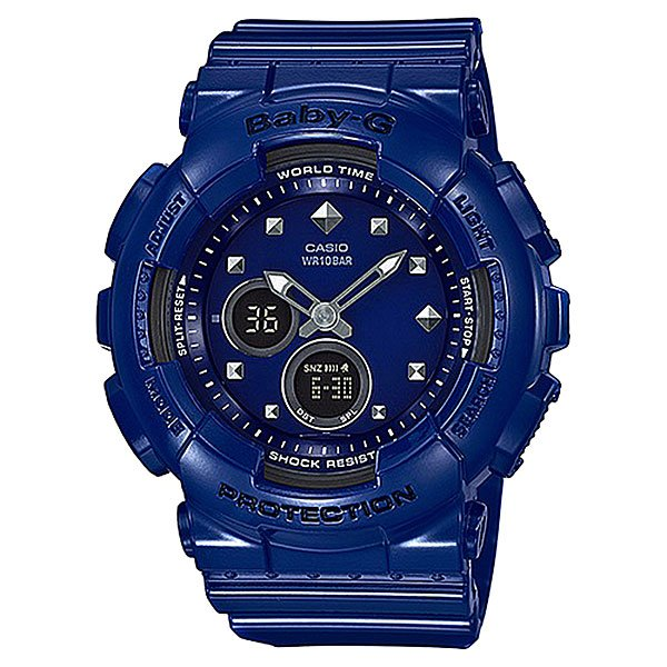Электронные часы женские Casio Baby-g Ba-125-2a Navy часы наручные casio часы baby g ba 110tx 4a