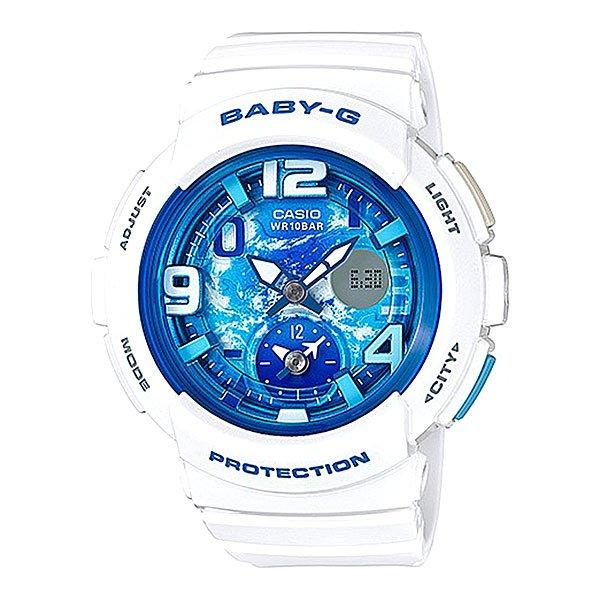 Электронные часы детские Casio Baby-g Bga-190gl-7b WhiteНовинка в коллекции часов от Casio. Многофункциональные наручные часы в стильном корпусе для девушек, которые любят активный отдых.Технические характеристики: Светодиодная подсветка.Ударопрочная конструкция защищает от ударов и вибрации.Функция мирового времени.Функция секундомера- 1 час.Таймер - 1/1 мин. - 1 час.Ежедневный будильник.Включение/выключение звука кнопок.Функция перемещения стрелок.Автоматический календарь.12/24-часовое отображение времени.Минеральное стекло.Корпус из полимерного пластика.Ремешок из полимерного материала.Срок службы аккумулятора - 2 года.Точность +/- 30 сек в месяц.<br><br>Цвет: белый<br>Тип: Электронные часы<br>Возраст: Детский