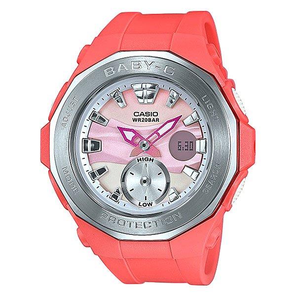 Электронные часы детские Casio Baby-g Bga-220-4a PinkНовинка в коллекции часов от Casio. Стильные наручные часы в прочном корпусе из нержавеющей стали с оптимальным набором функций на каждый день.Технические характеристики: Светодиодная подсветка.Ударопрочная конструкция защищает от ударов и вибрации.Функция мирового времени.Функция секундомера- 1 час.Таймер - 1/1 мин. - 1 час.Ежедневный будильник.Включение/выключение звука кнопок.Функция перемещения стрелок.Автоматический календарь.12/24-часовое отображение времени.Минеральное стекло.Корпус из нержавеющей стали и полимера.Ремешок из полимерного материала.Срок службы аккумулятора - 2 года.Точность +/- 30 сек в месяц.<br><br>Цвет: розовый<br>Тип: Электронные часы<br>Возраст: Детский