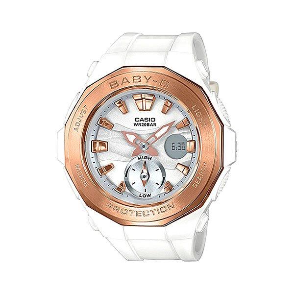 все цены на Электронные часы женские Casio Baby-g Bga-220g-7a White онлайн