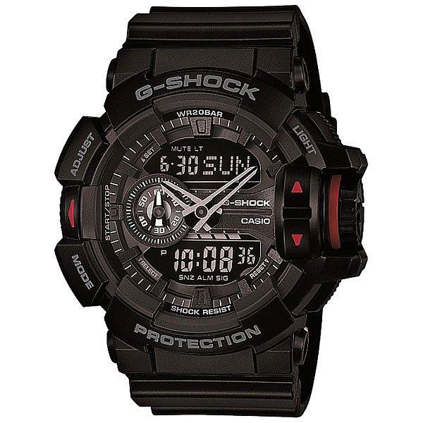 Электронные часы Casio G-Shock Ga-400-1b BlackФункциональные и ударопрочные наручные часы в мощном корпусе из полимерного материала.Технические характеристики: Автоматическая светодиодная подсветка.Ударопрочная конструкция защищает от ударов и вибрации.Функция мирового времени.Функция секундомера- 1/100 сек. - 24 часа.Таймер - 1/1 мин. - 1 час.5 ежедневных будильников.Включение/выключение звука кнопок.Функция перемещения стрелок.Функция колеса прокрутки.Автоматический календарь.12/24-часовое отображение времени.Минеральное стекло.Корпус из полимерного пластика.Ремешок из полимерного материала.Срок службы аккумулятора - 3 года.Точность +/- 15 сек в месяц.<br><br>Цвет: черный<br>Тип: Электронные часы<br>Возраст: Взрослый<br>Пол: Мужской