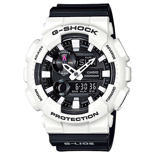Электронные часы Casio G-Shock Gax-100b-7a White/BlackФункциональные и ударопрочные наручные часы в мощном корпусе из полимерного материала.Технические характеристики: Автоматическая светодиодная подсветка.Ударопрочная конструкция защищает от ударов и вибрации.Устойчивость к воздействию магнитного поля.Функция мирового времени.Функция секундомера - 1/1000 сек. - 100 часов.Таймер - 1/1 мин. - 24 часа (с автоматическим повтором).5 ежедневных будильников.Функция повтора будильника.Отображение скорости.Автоматический календарь.12/24-часовое отображение времени.Минеральное стекло.Корпус из полимерного пластика.Ремешок из полимерного материала.Срок службы аккумулятора - 2 года.Точность +/- 15 сек в месяц.<br><br>Цвет: черный,белый<br>Тип: Электронные часы<br>Возраст: Взрослый<br>Пол: Мужской