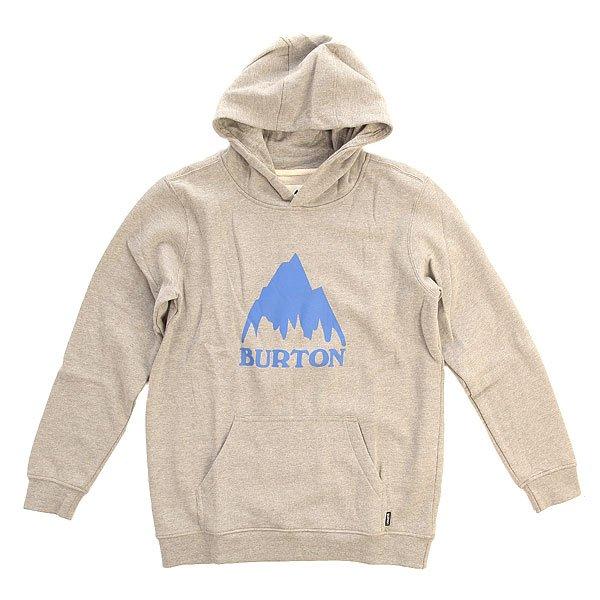 Толстовка кенгуру детская Burton Classic Mtn Po Heather Grey
