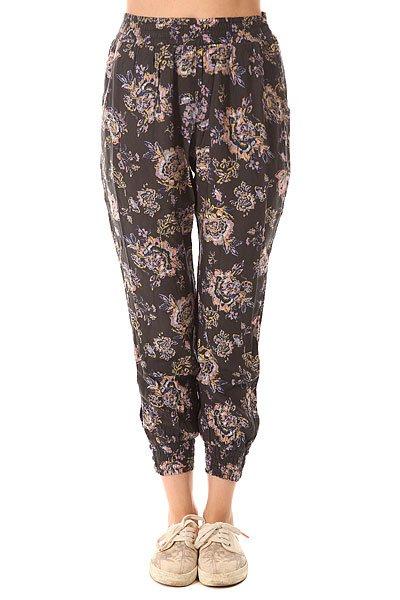 Штаны прямые женские Billabong Sun Vibe Black Floral