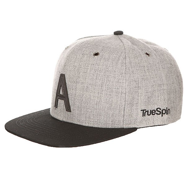 ��������� � ������ ��������� TrueSpin Abc Snapback Dark Grey/Black Leather-a
