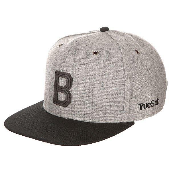 Бейсболка с прямым козырьком TrueSpin Abc Snapback Dark Grey/Black Leather-b<br><br>Цвет: серый,черный<br>Тип: Бейсболка с прямым козырьком<br>Возраст: Взрослый<br>Пол: Мужской