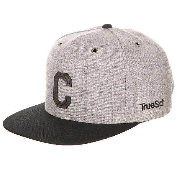 Бейсболка с прямым козырьком TrueSpin Abc Snapback Dark Grey/Black Leather-c<br><br>Цвет: серый,черный<br>Тип: Бейсболка с прямым козырьком<br>Возраст: Взрослый