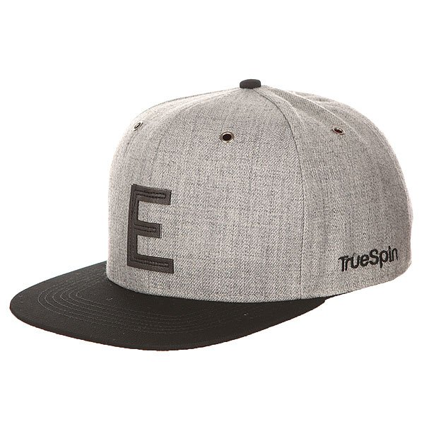 Бейсболка с прямым козырьком TrueSpin Abc Snapback Dark Grey/Black Leather-e бейсболка truespin vato snapback dark grey white o s