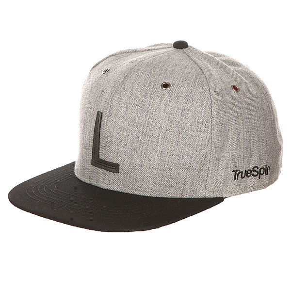 Бейсболка с прямым козырьком TrueSpin Abc Snapback Dark Grey/Black Leather-l бейсболка truespin abc wool edition t grey