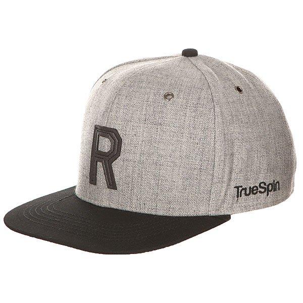 Бейсболка с прямым козырьком TrueSpin Abc Snapback Dark Grey/Black Leather-r