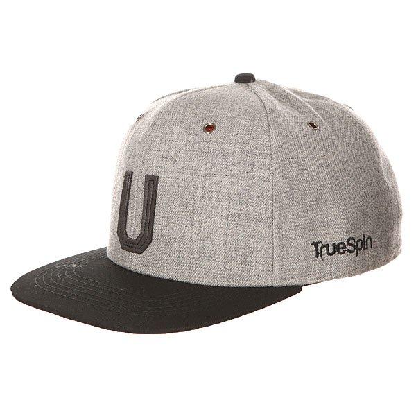 Бейсболка с прямым козырьком TrueSpin Abc Snapback Dark Grey/Black Leather-u<br><br>Цвет: серый,черный<br>Тип: Бейсболка с прямым козырьком<br>Возраст: Взрослый