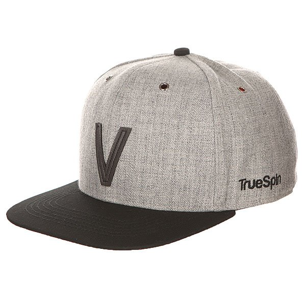 Бейсболка с прямым козырьком TrueSpin Abc Snapback Dark Grey/Black Leather-v бейсболка truespin vato snapback dark grey white o s