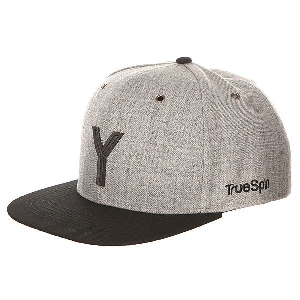 Бейсболка с прямым козырьком TrueSpin Abc Snapback Dark Grey/Black Leather-y<br><br>Цвет: серый,черный<br>Тип: Бейсболка с прямым козырьком<br>Возраст: Взрослый