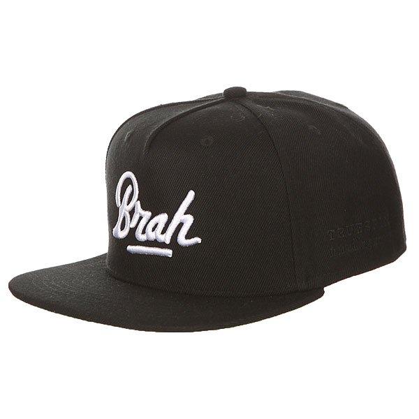 Бейсболка с прямым козырьком TrueSpin Brah Black<br><br>Цвет: черный<br>Тип: Бейсболка с прямым козырьком<br>Возраст: Взрослый