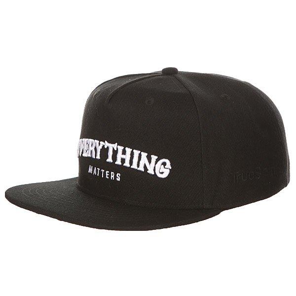 Бейсболка с прямым козырьком TrueSpin Everything Black<br><br>Цвет: черный<br>Тип: Бейсболка с прямым козырьком<br>Возраст: Взрослый<br>Пол: Мужской