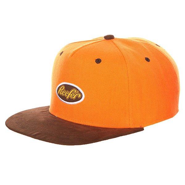 Бейсболка с прямым козырьком TrueSpin Reefer Orange<br><br>Цвет: оранжевый,коричневый<br>Тип: Бейсболка с прямым козырьком<br>Возраст: Взрослый