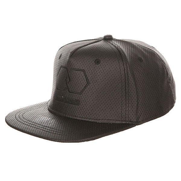 Бейсболка с прямым козырьком TrueSpin Riddled Strapback Black<br><br>Цвет: черный<br>Тип: Бейсболка с прямым козырьком<br>Возраст: Взрослый