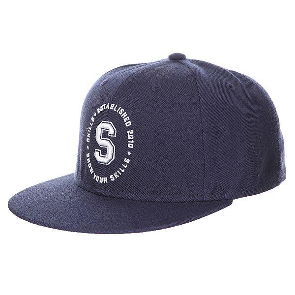 Бейсболка с прямым козырьком Skills 05 Navy<br><br>Цвет: синий<br>Тип: Бейсболка с прямым козырьком<br>Возраст: Взрослый