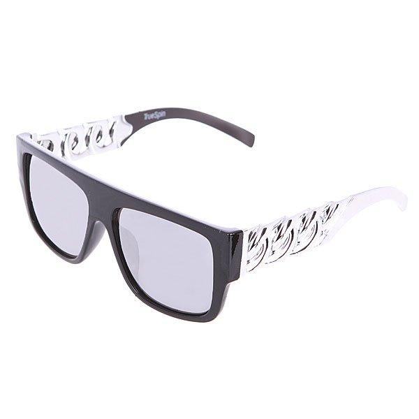 Очки TrueSpin Las Cadenas Black/SilverКлассические очки в ажурной оправе от TrueSpin.Технические характеристики: Ажурная оправа из пластика.Петли из нержавеющей стали.Ударопрочные поликарбонатные линзы.100% защита от ультрафиолета.<br><br>Цвет: черный,серый<br>Тип: Очки<br>Возраст: Взрослый<br>Пол: Мужской