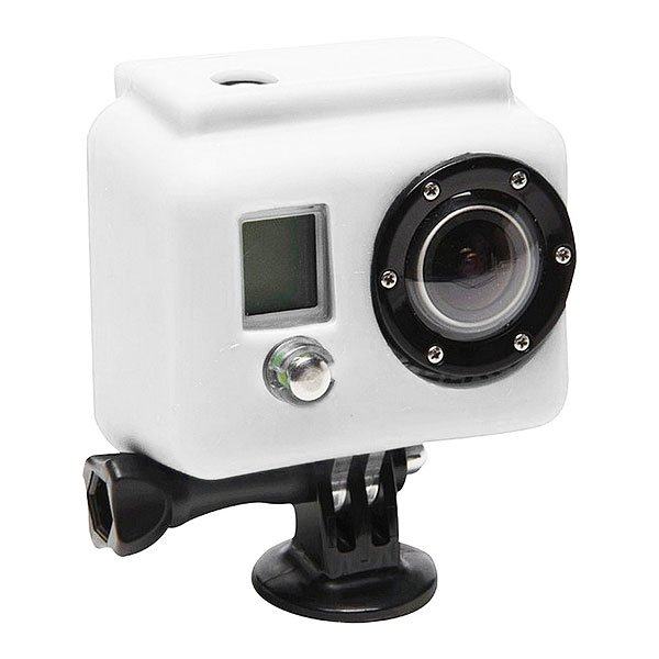Чехол для экшн камеры GoPro Xs06-gp WhiteСиликоновый чехол для увеличения производительности и долговечности. Яркие и сочные цвета не дадут затеряться Вашей камере среди остальных. Снимайте больше даже в холодных и сложных условиях!Технические характеристики: Материал - силикон.Чехол увеличивает производительность аккумулятора в холодное время.Обеспечивает защиту от повреждений.<br><br>Цвет: белый<br>Тип: Чехол для экшн камеры
