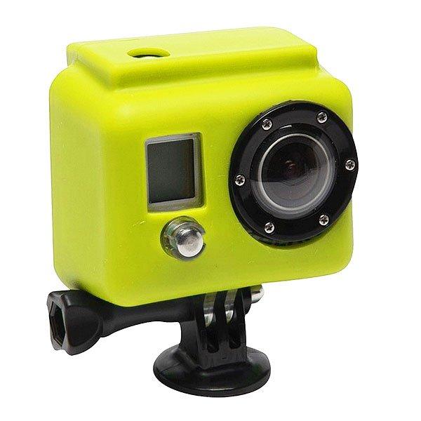 Чехол для экшн камеры GoPro Xs07-gp YellowСиликоновый чехол для увеличения производительности и долговечности. Яркие и сочные цвета не дадут затеряться Вашей камере среди остальных. Снимайте больше даже в холодных и сложных условиях!Технические характеристики: Материал - силикон.Чехол увеличивает производительность аккумулятора в холодное время.Обеспечивает защиту от повреждений.<br><br>Цвет: желтый<br>Тип: Чехол для экшн камеры