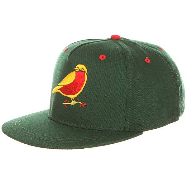 Бейсболка с прямым козырьком Запорожец Птичка Green<br><br>Цвет: зеленый<br>Тип: Бейсболка с прямым козырьком<br>Возраст: Взрослый