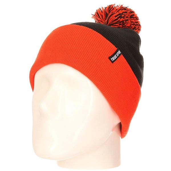 Шапка TrueSpin Neon Pom 2 Tone Black Orange