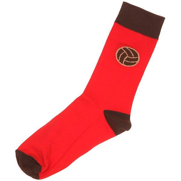 Носки средние Запорожец Футбол Красный<br><br>Цвет: красный,коричневый<br>Тип: Носки средние<br>Возраст: Взрослый<br>Пол: Мужской