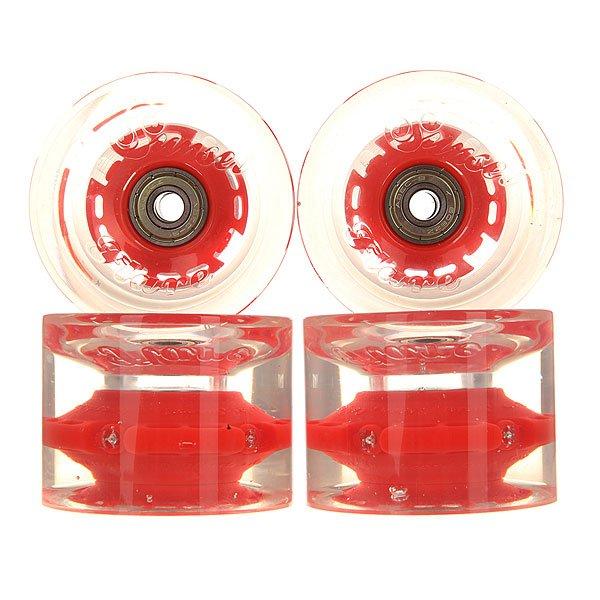 Колеса для скейтборда для лонгборда Sunset Long Board Wheel With Abec9 Red 78A 69 mmДиаметр: 69 mm    Жесткость: 78A    Цена указана за комплект из 4-х колес<br><br>Цвет: красный<br>Тип: Колеса для лонгборда
