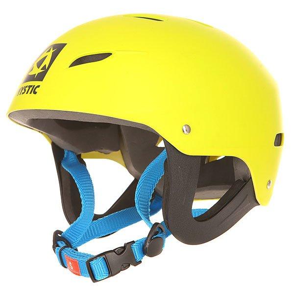 Водный шлем Mystic Rental Helmet YellowПростой и надежный шлем для водных видов спорта.Характеристики:Сертификат безопасности: CE EN 1385.Ударопрочный термопластик. Легкий материал внешней части с вентиляционными отверстиями. Быстрая и удобная застежка под подбородком.<br><br>Цвет: желтый<br>Тип: Водный шлем<br>Возраст: Взрослый<br>Пол: Мужской