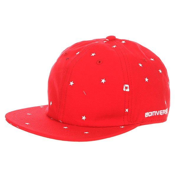 Бейсболка с прямым козырьком Converse Con009W Red