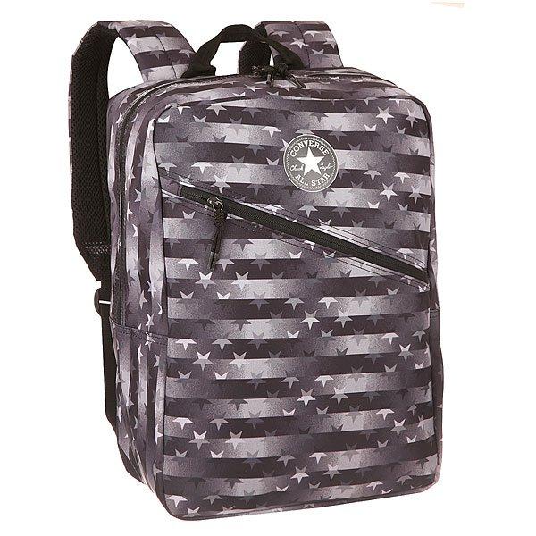 Рюкзак городской Converse CP Diagonal Zip Backpack Grey/BlackУдобный городской рюкзак со свободной организацией пространства, в который Вы можете положить все, что Вам нужно для учебы или путешествия.Характеристики:Просторное основное отделение с застежкой на молнии. Лицевой карман на молнии для разных мелочей.Боковые сетчатые карманы. Широкие эргономичные лямки с регулировкой по длине. Внутренний органайзер. Нашивка с логотипом Converse на кармане.<br><br>Цвет: черный,серый,белый<br>Тип: Рюкзак городской<br>Возраст: Взрослый<br>Пол: Мужской