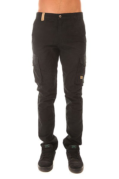 Штаны прямые Запорожец Cargo Pants Black<br><br>Цвет: черный<br>Тип: Штаны прямые<br>Возраст: Взрослый<br>Пол: Мужской