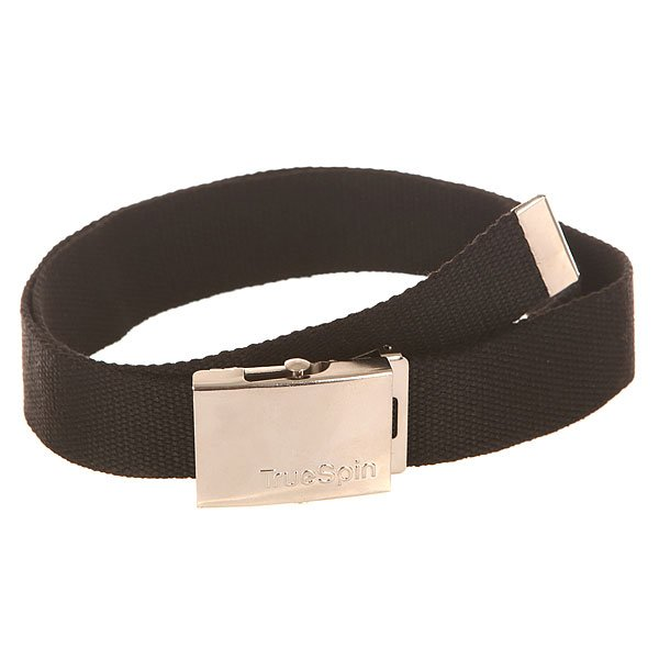 Ремень TrueSpin Belt BlackСтильный ремень с удобной металлической пряжкой от немецкого бренда TrueSpin.Технические характеристики: Прочный текстильный ремень.Металлическая пряжка с логотипом TrueSpin.<br><br>Цвет: черный<br>Тип: Ремень<br>Возраст: Взрослый<br>Пол: Мужской