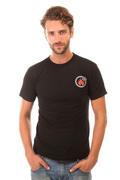 Футболка Black Label Large Circle Flame 2 Black<br><br>Цвет: черный<br>Тип: Футболка<br>Возраст: Взрослый<br>Пол: Мужской