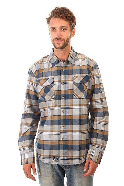 Рубашка в клетку Picture Organic Flint Db<br><br>Цвет: синий,коричневый<br>Тип: Рубашка в клетку<br>Возраст: Взрослый<br>Пол: Мужской