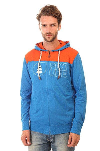 Толстовка классическая Picture Organic Basement Ml Zip Blue<br><br>Цвет: синий,оранжевый<br>Тип: Толстовка классическая<br>Возраст: Взрослый<br>Пол: Мужской