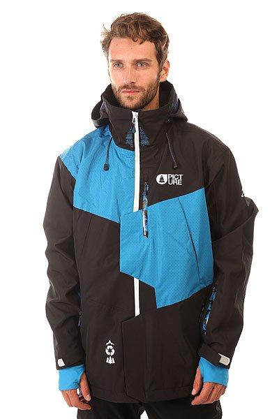 Куртка утепленная Picture Organic Oscar BlackУтепленная куртка Oscar с мембраной R-PET дополненная легким, синтетическим утеплителем Coremax для уютной зимы.Технические характеристики: Переработанный полиэстер.Водоотталкивающая обработка C6 DWR PFOA PFOS - оптимизированная и стабильная технология, которая преобразует капли воды в более круглую форму, что позволяет им скользить на ткани.Мембрана R-PET - дышащая и водонепроницаемая мембрана, которая обеспечивает максимальный комфорт, сохраняя человека сухим в любых условиях.Утеплитель Coremax.Индекс тепла 5/10.Подкладка Thermal Dry System - специальная ткань, которая быстро сохнет.Куртка с максимальной свободой передвижения и возможностью использовать дополнительные слои утепления, идеально подходит для фристайла.Полностью проклеенные швы.Карманы для рук, скипасс карман, карман для смартфона Tactil, карман для маски.Вентиляционные молнии.Салфетка для протирки маски.Капюшон с регулировкой.Снежная юбка.Крепление куртки к штанам.Манжеты с регулировкой на липучках.Эластичные манжеты с отверстием для пальца.Подол на утяжке для защиты от ветра.<br><br>Цвет: черный,голубой<br>Тип: Куртка утепленная<br>Возраст: Взрослый<br>Пол: Мужской