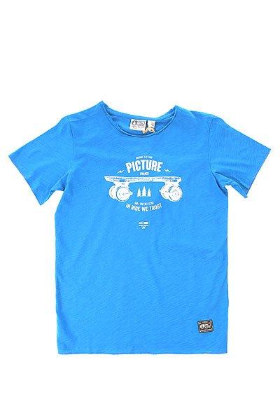 Футболка детская Picture Organic Parker Pblue<br><br>Цвет: синий<br>Тип: Футболка<br>Возраст: Детский