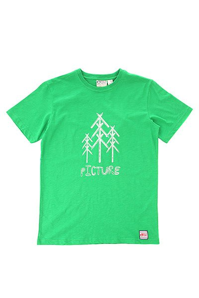 Футболка детская Picture Organic Draw Green<br><br>Цвет: зеленый<br>Тип: Футболка<br>Возраст: Детский