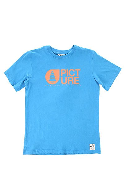 Футболка детская Picture Organic Basement Blue<br><br>Цвет: синий<br>Тип: Футболка<br>Возраст: Детский