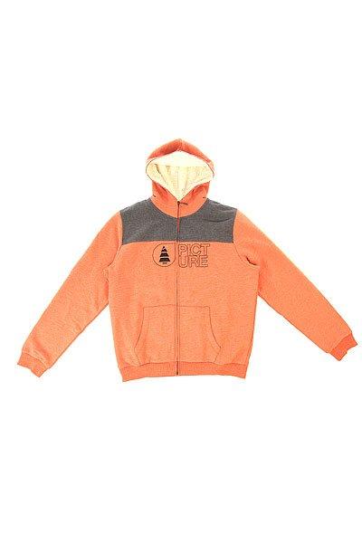 Толстовка утепленная детская Picture Organic Basement Plush Red<br><br>Цвет: оранжевый,серый<br>Тип: Толстовка утепленная<br>Возраст: Детский