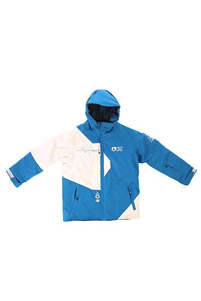 Куртка детская Picture Organic Fink Blue WhiteДетская куртка с мембраной DRY PLAY и утеплителем для надежной и комфортной защиты от непогоды во время катания, а благодаря системе Grow With Me, куртка будет расти вместе с ребенком.Технические характеристики: Переработанный полиэстер.Водоотталкивающая обработка C6 DWR PFOA PFOS - оптимизированная и стабильная технология, которая преобразует капли воды в более круглую форму, что позволяет им скользить на ткани.Мембрана DRYPLAY.Утеплитель 80 гр.Индекс тепла 7/10.Подкладка из восстановленных тканей.Система Grow With Me - куртка растет вместе с ребенком.Критические швы проклеены.Манжеты с регулировкой на липучках.Карманы для рук, скипасс карман.Специальная салфетка для протирки маски.Снежная юбка.Подол на утяжке для защиты от ветра.<br><br>Цвет: белый,синий<br>Тип: Куртка утепленная<br>Возраст: Детский