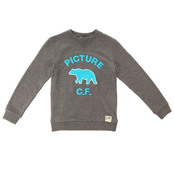 Толстовка свитшот детская Picture Organic Tomy Black<br><br>Цвет: серый<br>Тип: Толстовка свитшот<br>Возраст: Детский