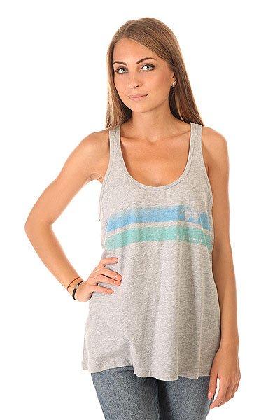 Майка женская Oakley Beachy Stripe Heather Grey<br><br>Цвет: серый<br>Тип: Майка<br>Возраст: Взрослый<br>Пол: Женский