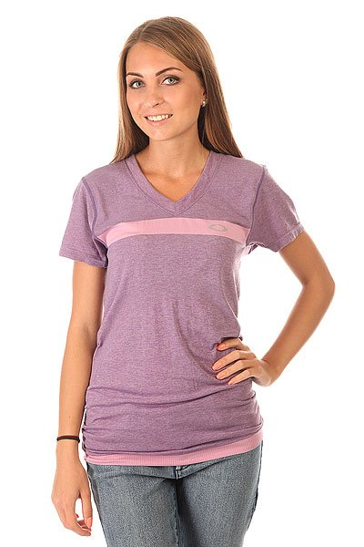 Футболка женская Oakley Cool Down Top Amethyst<br><br>Цвет: фиолетовый<br>Тип: Футболка<br>Возраст: Взрослый<br>Пол: Женский