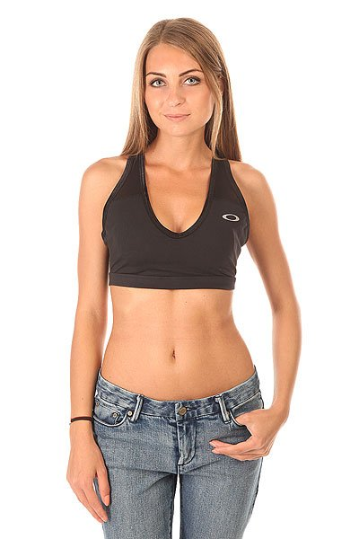 Топ женский Oakley Breathe In Bra Jet Black
